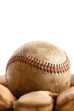 Vintage baseball and glove Royalty Free Stock Photo