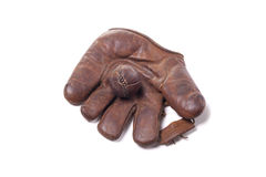 Vintage baseball glove and ball Stock Photo