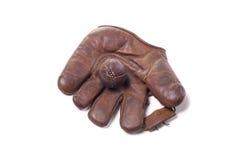 Vintage baseball glove and ball Stock Photo