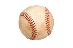 Vintage Baseball Isolated on a White Background Royalty Free Stock Images
