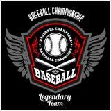 Vintage baseball label and badge Royalty Free Stock Image