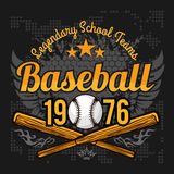 Vintage baseball label and badge Stock Photo