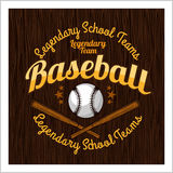 Vintage baseball label and badge Royalty Free Stock Image