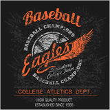 Vintage baseball logo, emblem, badge and design elements. Vector illustration Royalty Free Stock Photos