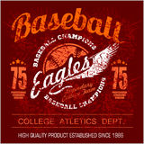 Vintage baseball logo, emblem, badge and design elements. Vector illustration Stock Images