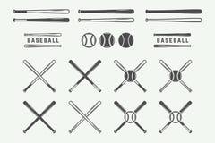 Vintage baseball logos, emblems, badges and design elements. Monochrome graphic Art. Vector Illustration Royalty Free Illustration
