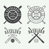 Vintage baseball logos, emblems, badges and design elements. Stock Photo