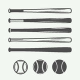 Vintage baseball logos, emblems, badges and design elements. Royalty Free Stock Images