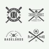 Vintage baseball logos, emblems, badges and design elements. Royalty Free Stock Photo