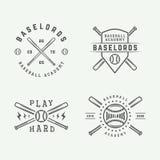 Vintage baseball logos, emblems, badges and design elements. Stock Photography