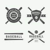 Vintage baseball logos, emblems, badges and design elements. Vector illustration. Monochrome Graphic Art vector illustration