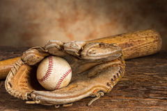 Vintage baseball memories Stock Image