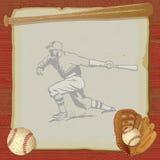 Vintage Baseball Party Invitation Card Royalty Free Stock Photo