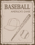 Vintage baseball poster Stock Photography
