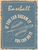 Vintage baseball poster Stock Photos