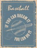 Vintage baseball poster Stock Photos