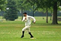 Vintage Baseball runner Royalty Free Stock Photography