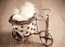 Vintage basket bike Royalty Free Stock Images
