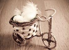 Vintage basket bike Royalty Free Stock Images