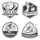 Vintage Basketball Emblems Set Stock Images