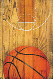 Vintage Basketball Hardwood Floor Background Stock Image