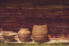 Vintage baskets Royalty Free Stock Photography