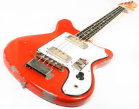 Vintage bass guitar Stock Photography