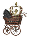Vintage Bassinet with Crown Royalty Free Stock Photos