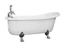 Vintage bath. Tub isolated with clipping path included Royalty Free Stock Photo