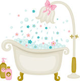 Vintage bath illustration Stock Photo