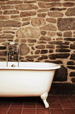 Vintage Bathroom With Clawfoot Bathtub. Vintage Bathroom With Oldfashioned Clawfoot Bathtub Royalty Free Stock Photo