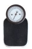 Vintage bathroom scales Stock Images