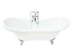 Vintage bathtub. Isolated with clipping path included stock photography