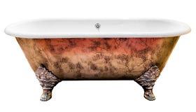 Vintage bathtub. Isolated on white background Stock Images