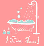 Vintage Bathtub. Vector File EPS10 Royalty Free Stock Photography