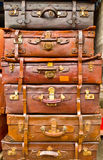 Stacked Suitcases Royalty Free Stock Photography