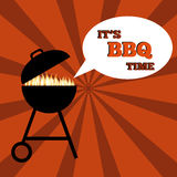 Vintage BBQ Grill Party eps10  illustration. Stock Image