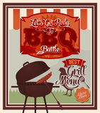 Vintage BBQ Grill Party Royalty Free Stock Photos