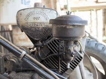 Vintage BCS 622 lawn mower engine in Milan Stock Images