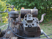 Vintage BCS 622 lawn mower engine in Milan Royalty Free Stock Photography