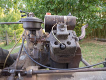 Vintage BCS 622 lawn mower engine in Milan Royalty Free Stock Images