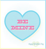 Vintage Be Mine Valentines Day Card. Retro style be mine valentines day card with heart in pastel colors Royalty Free Stock Photo