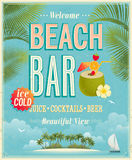 Vintage Beach Bar poster. Stock Photos