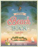 Vintage Beach Bar poster. Stock Photography