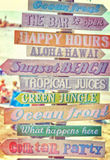 Vintage beach bar signs Royalty Free Stock Images