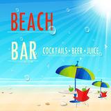 Vintage Beach Juice Bar poster Stock Photo