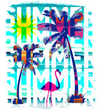 Vintage Beach poster. Vector background. Stock Image