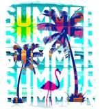 Vintage Beach poster. Vector background. vector illustration