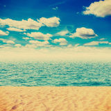 Vintage Beach and sand Royalty Free Stock Photo