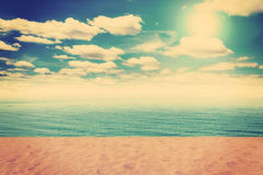 Vintage Beach and sand Royalty Free Stock Photography